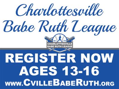 Cville Babe Ruth – 18×24 Yard Signs